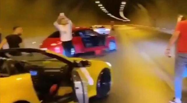Tünelde durarak trafiği tehlikeye atanlara ceza