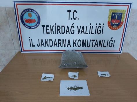 Tekirdağda bir otomobilde 1 kilogram sentetik uyuşturucu ele geçirildi