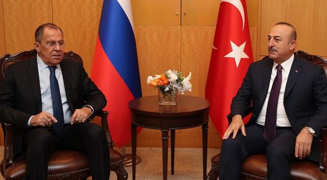 Dışişleri Bakanı Çavuşoğlu Rus mevkidaşı Lavrov ile görüştü