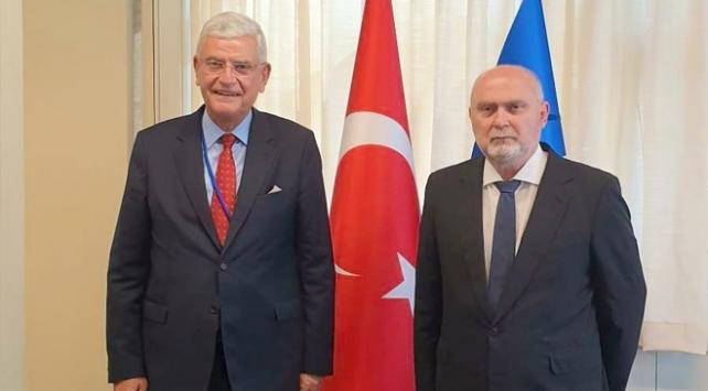 Volkan Bozkır, Türkiyenin BM Daimi Temsilcisi Sinirlioğlu ile görüştü