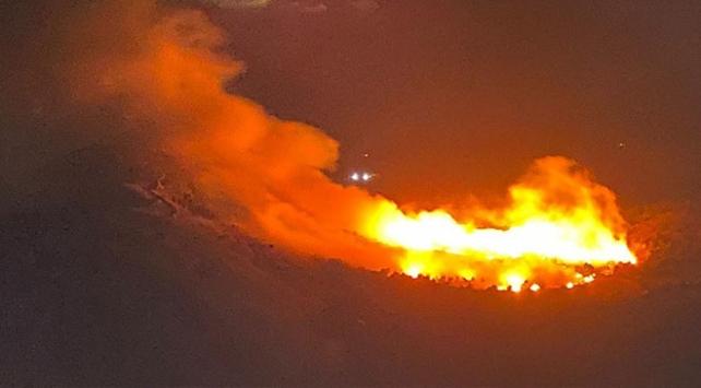 Kahramanmaraşta yangın: 10 dönüm tarım arazisi zarar gördü