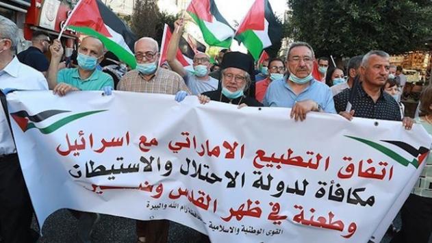 İsrail-BAE normalleşme anlaşması Gazzede protesto edildi