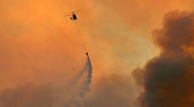 Adanadaki yangına havadan müdahale ediliyor