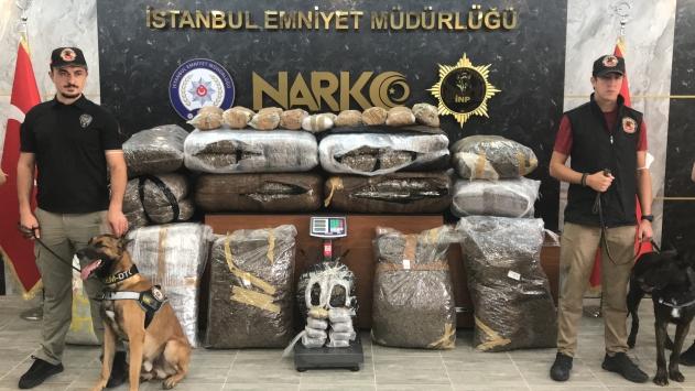 İstanbulda 218 kilogram uyuşturucu ele geçirildi