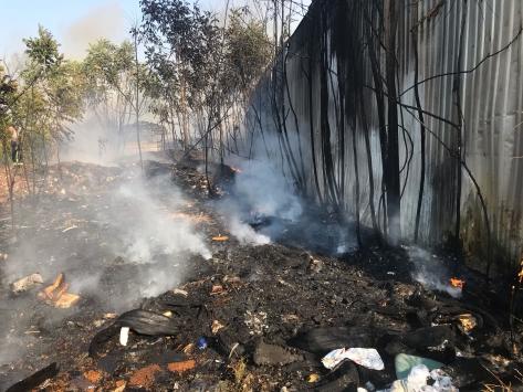 Bursada hurda deposunda çıkan yangın hasara neden oldu
