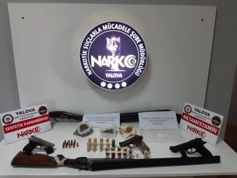 Yalovada silah ve uyuşturucu operasyonu: 11 gözaltı