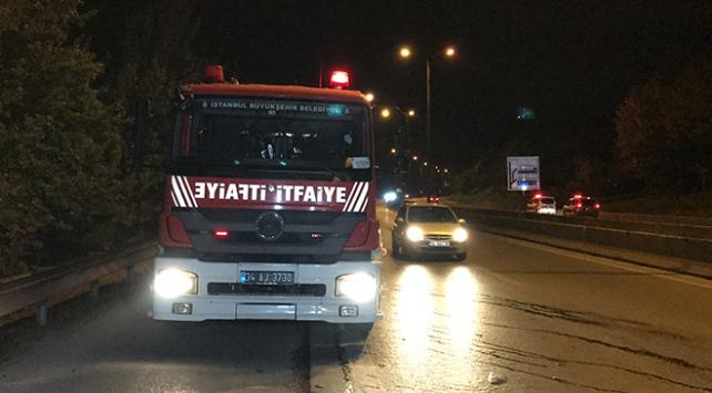 Aydos Ormanında yangına müdahale eden itfaiyeye ateş açıldı