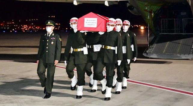 Libya şehidi Yılmazın cenazesi Gaziantepe getirildi