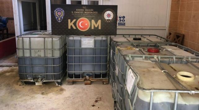 Adanada 142 bin litre kaçak akaryakıt ele geçirildi