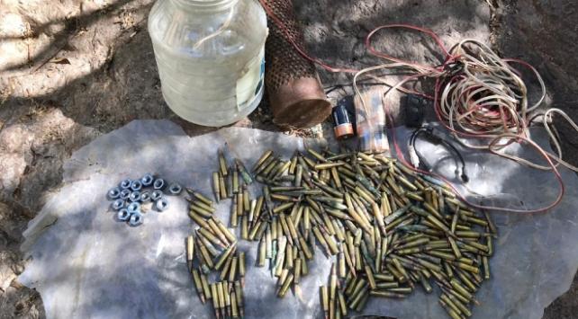 Bingölde PKKlı teröristlerin kullandığı mühimmat ele geçirildi