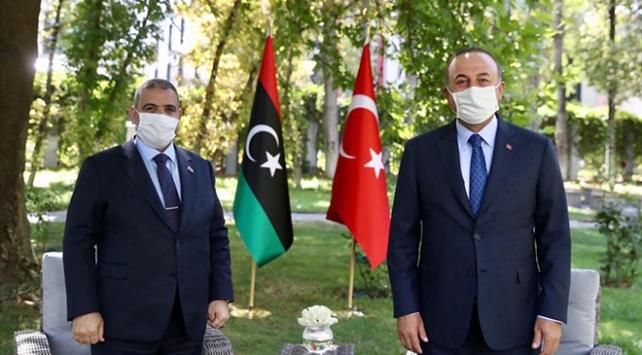 Bakan Çavuşoğlu, Libya Yüksek Konsey Başkanı Mişri ile görüştü
