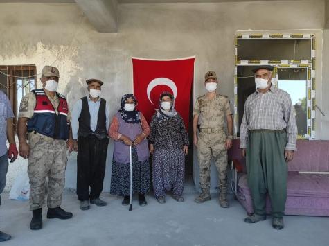 Şehit Gaffar Kuşun babaevi jandarma tarafından onarıldı