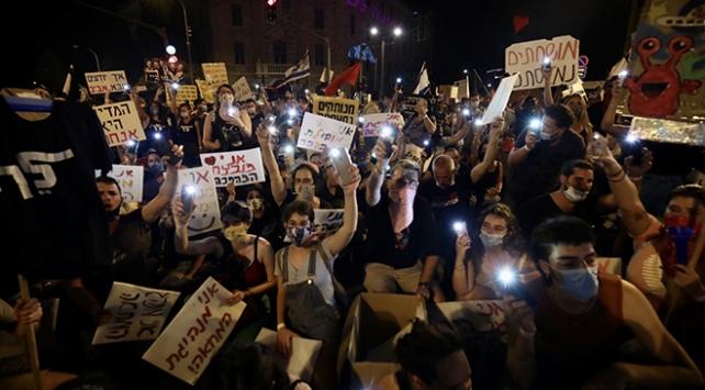 Netanyahu karşıtı gösteriye binlerce kişi katıldı