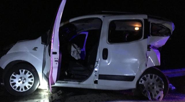Gaziantepte trafik kazası: 1 ölü, 9 yaralı