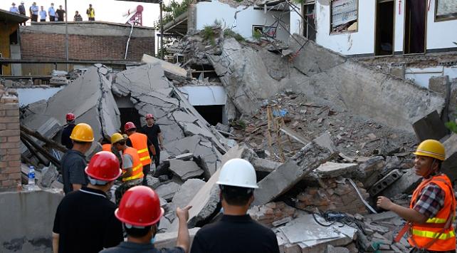 Çinde çöken restoranda can kaybı 29a yükseldi