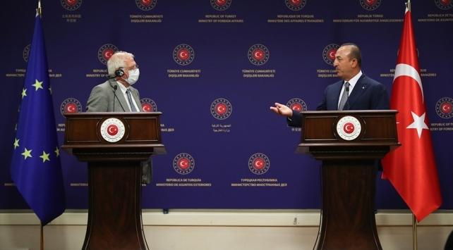 Bakan Çavuşoğlu, Borrell ile Doğu Akdenizi görüştü