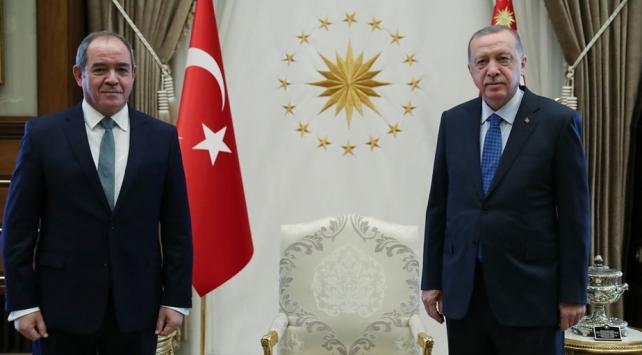 Cumhurbaşkanı Erdoğan Cezayir Dışişleri Bakanı Bukadumu kabul etti