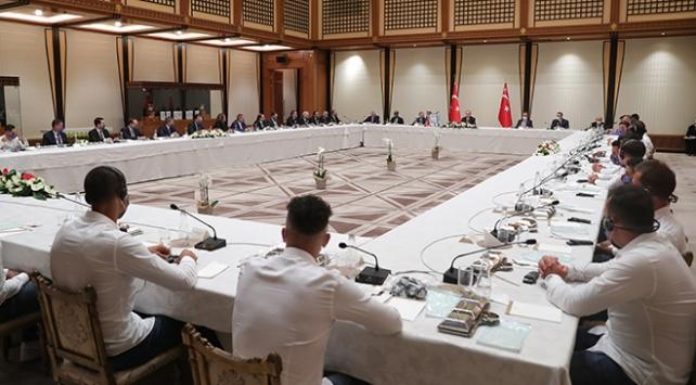 Cumhurbaşkanı Erdoğan Trabzonspor heyetini kabul etti
