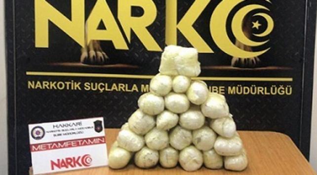 Hakkaride 14 kilo 260 gram uyuşturucu ele geçirildi