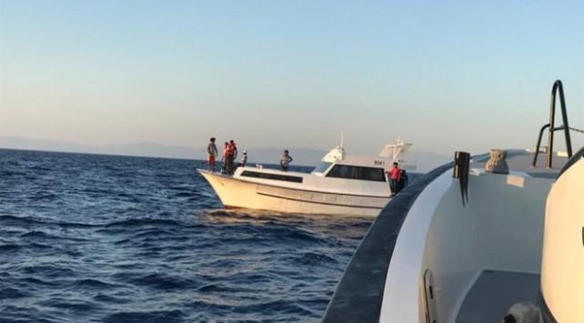 Muğla açıklarında mahsur kalan 5 sığınmacı kurtarıldı