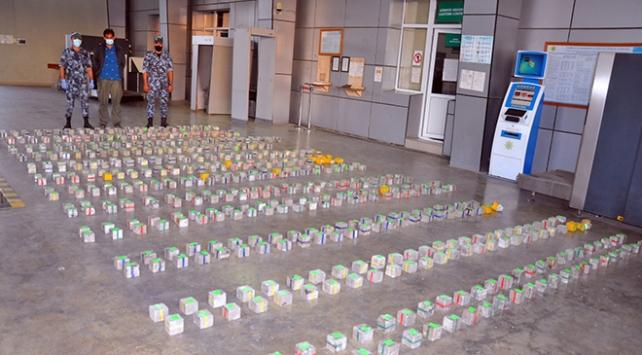 Azerbaycan sınırında 305 kilogram uyuşturucu ele geçirildi
