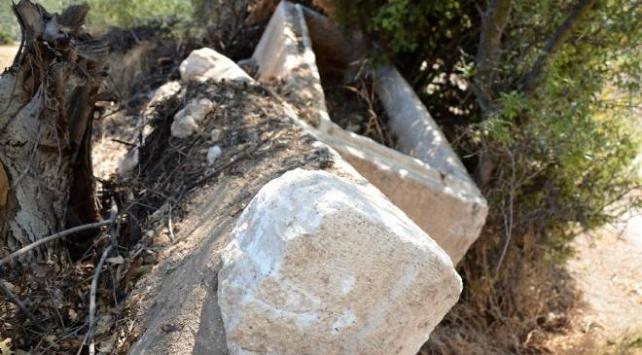 Kütahyada bulunan lahit Aizanoi Antik Kentine götürüldü