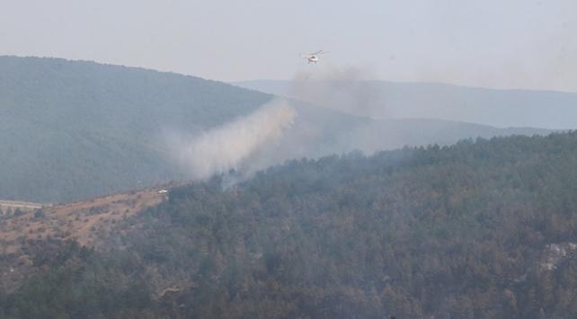Kastamonuda çıkan orman yangını iki gündür sürüyor