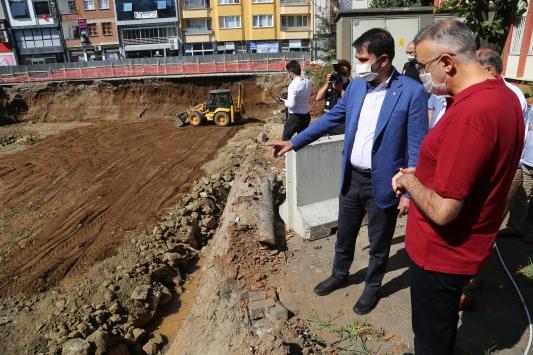 Çevre ve Şehircilik Bakanı Kurum, Bulancakta incelemelerde bulundu