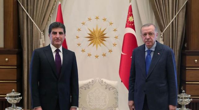 Cumhurbaşkanı Erdoğan, IKBY Başkanı Barzaniyi kabul etti
