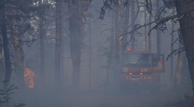 Çorum ve Sinop arasındaki ormanlık alanda çıkan yangın büyüyor