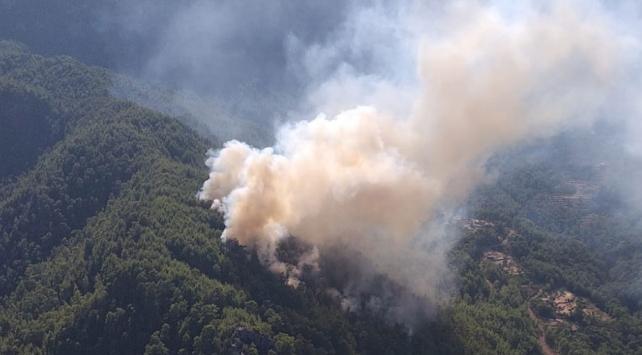 Antalyada ormanlık alanda çıkan yangın kontrol altına alındı