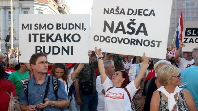 Hırvatistan'da önlemlere karşı 'Özgürlük Festivali' düzenlendi