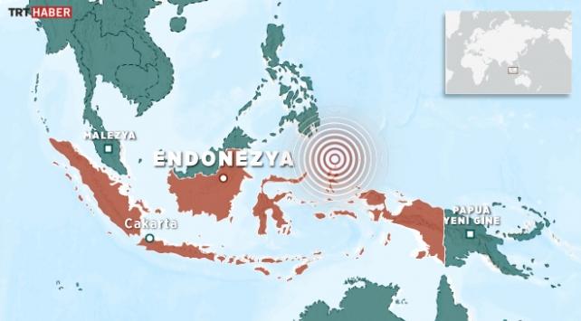 Endonezyada 5,9 büyüklüğünde deprem