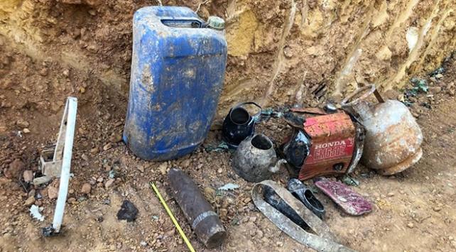 Bingölde PKKlı teröristlere ait mühimmat ve yaşam malzemesi ele geçirildi