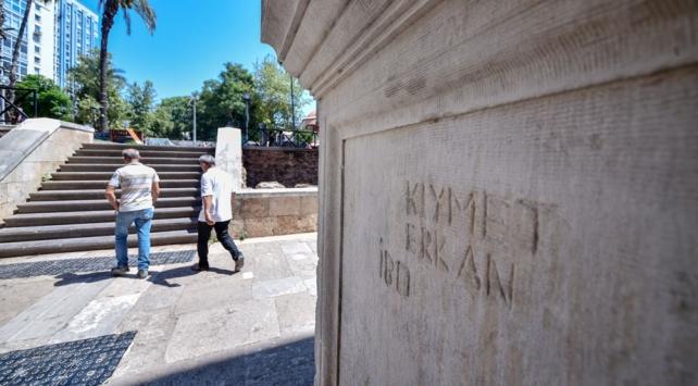 1890 yıllık tarihi yapıdaki utanç yazısı onarıldı