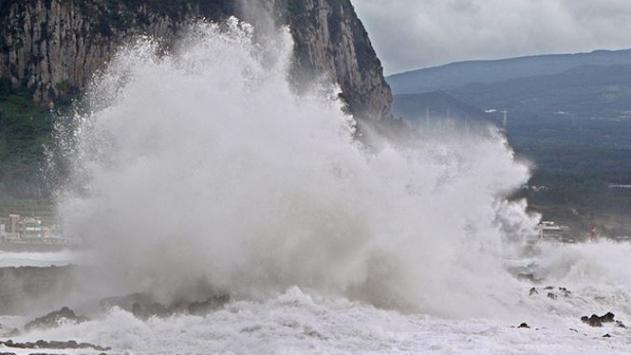 Haişen tayfunu Güney Koreyi etkisi altına almaya başladı