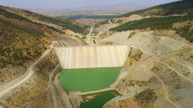 Afyonkarahisardaki Çay Barajında su tutulmaya başlandı