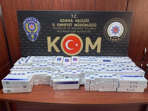 Adanada kaçak sigara ele geçirilen tırın sürücüsü gözaltına alındı