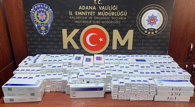 Adanada 1330 paket kaçak sigara ele geçirildi