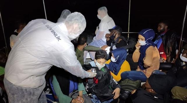 Sığınmacıların imdadına yine Türk sahil güvenliği yetişti