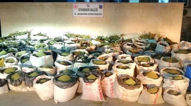Diyarbakırda 5 ton 81 kilogram uyuşturucu ele geçirildi