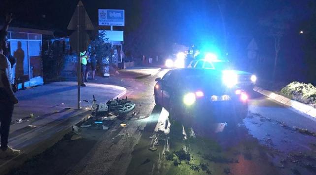 Muğlada otomobil motosiklete çarptı: 2 ölü