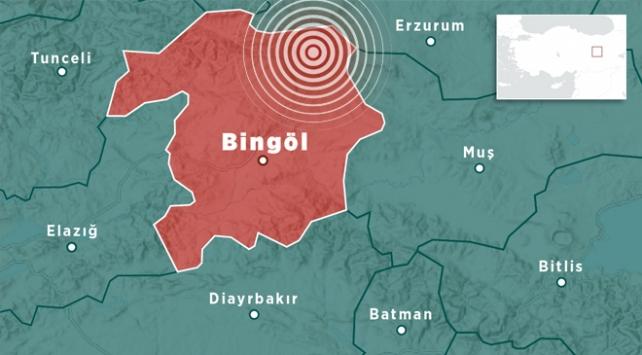 Bingölde 4,1 büyüklüğünde deprem