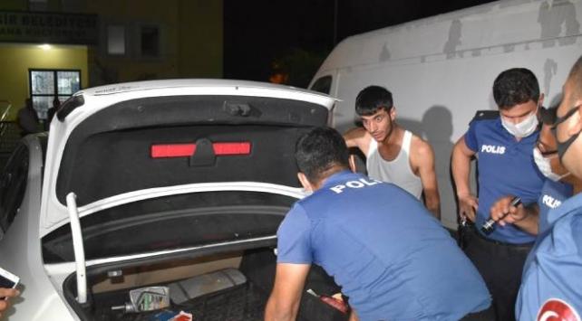 Polisten kaçmaya çalışan şüpheliler kovalamaca sonucu yakalandı