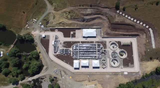 Ankarada atık su arıtma tesisinin inşaat çalışmalarında sona gelindi
