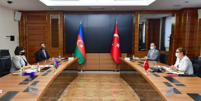Ticaret Bakanı Pekcan, Azerbaycan Meclis Başkanı Gafarova ile görüştü:
