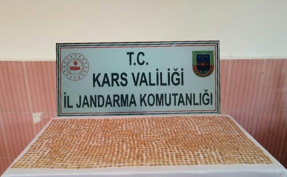 Karsta Osmanlı dönemine ait olduğu değerlendirilen 2 bin 5 sikke ele geçirildi