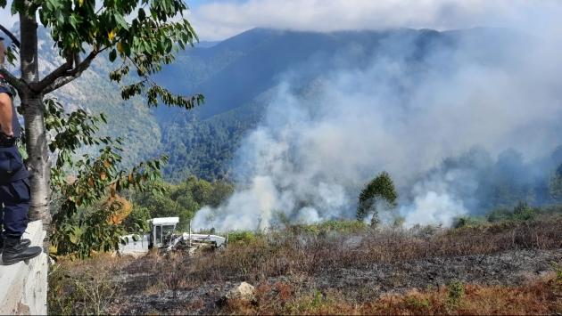 Kastamonuda anız yangını ormanlık alana sıçramadan söndürüldü