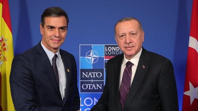 Cumhurbaşkanı Erdoğan Sanchez ile görüştü