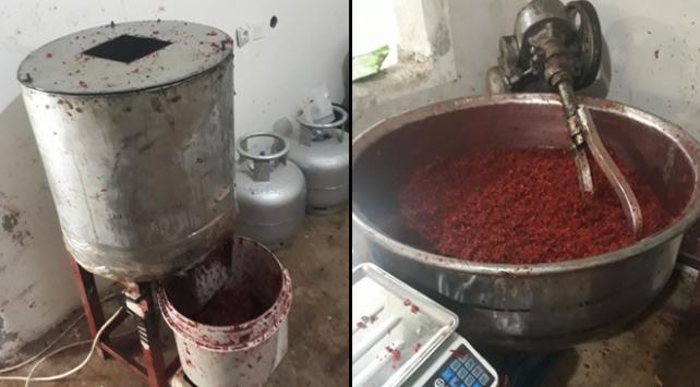 Gaziantepte kaçak nargile tütünü imalathanesine operasyon